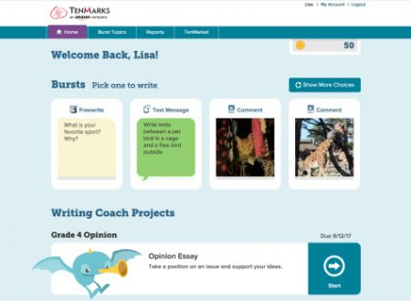 Amazon Announces TenMarks Writing – New Online Curriculum for Teachers That Combines Rigor and Fun to Unlock the Writer in Every Student